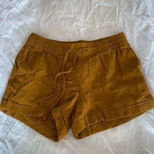 Brown linen shorts from old navy